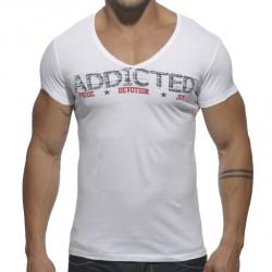T-Shirt Addicted Blanc Addicted