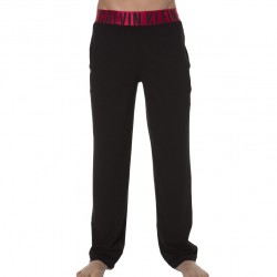 Pantalon Yoga Stretch Cotton Noir Calvin Klein