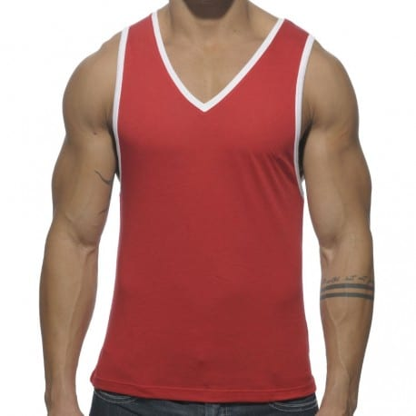 Basic Colors Tank Top - Red