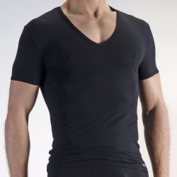 T-Shirt V-Neck RED 0965 Noir Olaf Benz