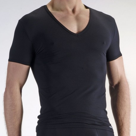 RED 0965 V-Neck T-Shirt - Black