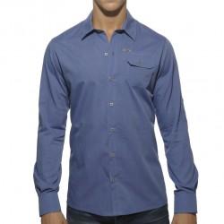 Chemise Bleue avec Poche Militaire ES Collection