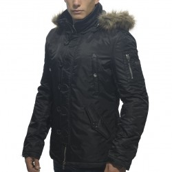 Manteau Parka Noir ES Collection