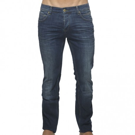 Straight Fit Boot Cut Jean Pants - Navy