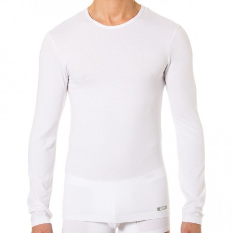 Thermal Effect Long Sleeves T-Shirt - White