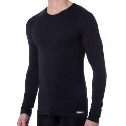 T-Shirt Manches Longues Thermal Effect Noir DIM