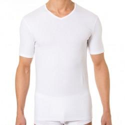Lot de 2 T-Shirts Col-V Dry & Cool Blanc - Noir DIM