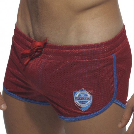 Curved Mini Swim Short - Red