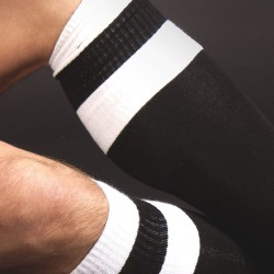 Chaussettes Football Noires et Blanches Barcode