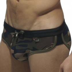 Slip de Bain Barcelona Camouflage - Noir ES Collection