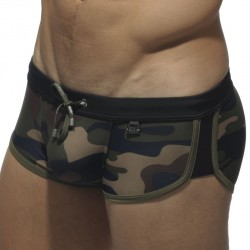 Shorty de Bain Marais Camouflage - Noir ES Collection