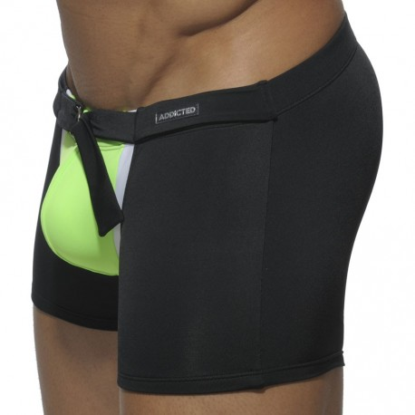 Zip Swim Boxer - Black