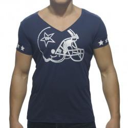 T-Shirt Helmet V-Neck Marine Addicted