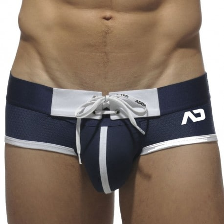 Mesh Brief With Tabs - Navy