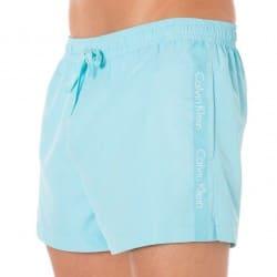 Short de Bain Core CK One Logo Tape Turquoise Calvin Klein