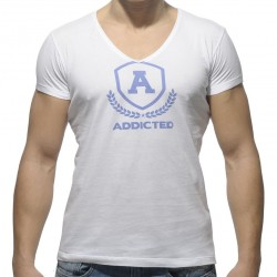 T-Shirt Varsity Blanc Addicted