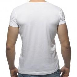 T-Shirt Varsity Blanc Addicted