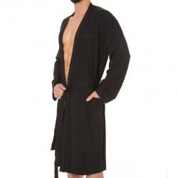 Robe de Chambre Cotton Modal Noir Calvin Klein