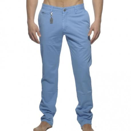 Cotton Chino Pants - Blue