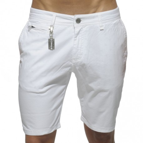 Cotton Chino Bermuda Pants - White