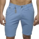 Cotton Chino Bermuda Pants - Blue