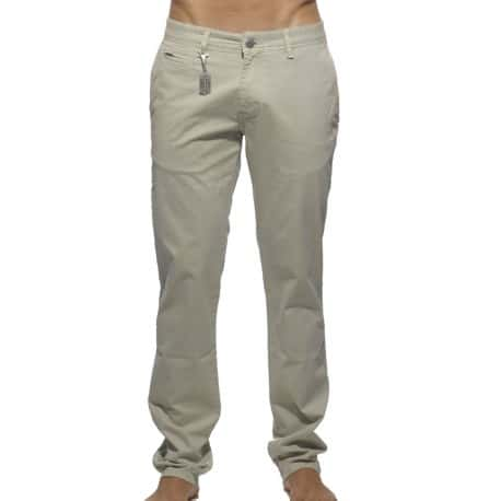Cotton Chino Pants - Beige