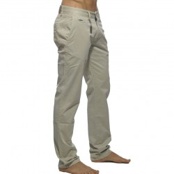 Pantalon Chino Coton Beige ES Collection