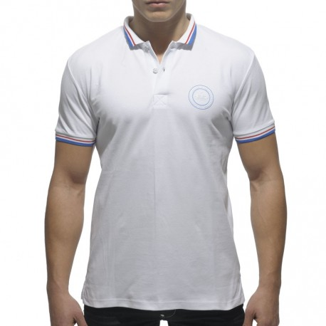 Rounded Shield Polo - White