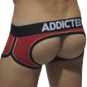 Double Piping Bottomless Boxer - Red