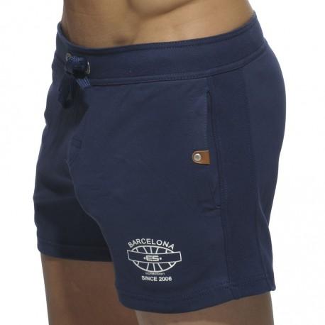 Detailed Pocket Shorts - Navy