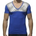 V-neckline Mesh 23 T-Shirt - Royal