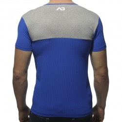 T-Shirt Col-V Mesh 23 Royal Addicted