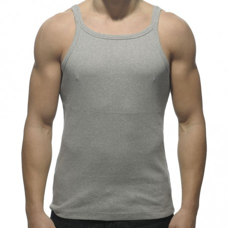 Rib Tank Top - Grey
