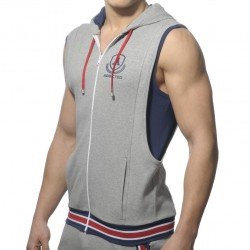 Veste Zip Cotton Hoody Gris Addicted