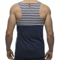 Loose Fit Sailor Style Tank Top - Navy