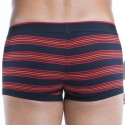 2-Pack Cotton Stretch Striped Brazilian Boxers - Black - Red