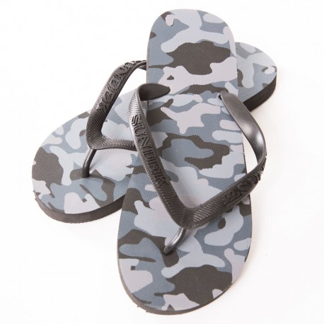 Camouflage Flip Flops - Black
