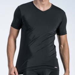T-Shirt V-Neck RED 1472 Noir Olaf Benz