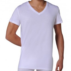 Pack de 2 T-Shirts V Pure Cotton Blancs HOM