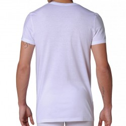 Pack de 2 T-Shirts V Pure Cotton Blancs HOM