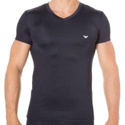 T-Shirt Blue Microfiber - Marine Emporio Armani
