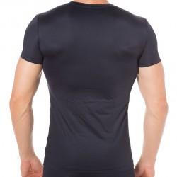 Blue Microfiber T-Shirt - Navy Emporio Armani