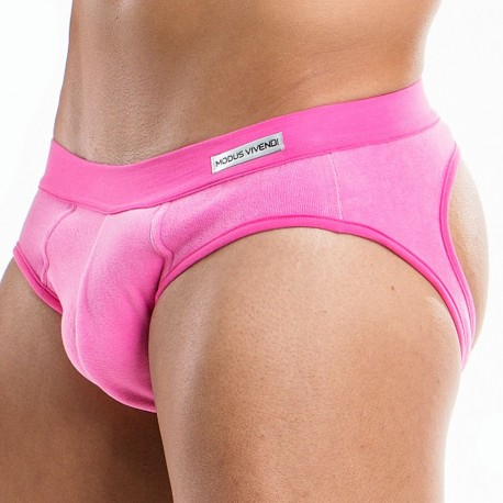 Candy Bottomless Brief - Fuchsia