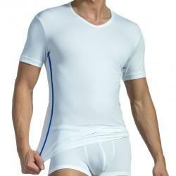 T-Shirt V-Neck RED 1435 Blanc Olaf Benz