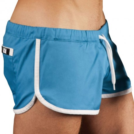 Short Gym Bleu - Blanc