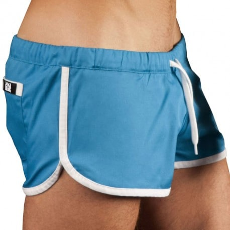 Gym Short - Blue - White