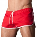 Gym Short - Red - White