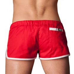 Gym Short - Red - White Barcode