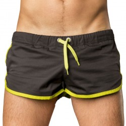 Gym Short - Black - Neon Green Barcode