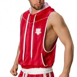 Manuel Hoody - Red - White Barcode